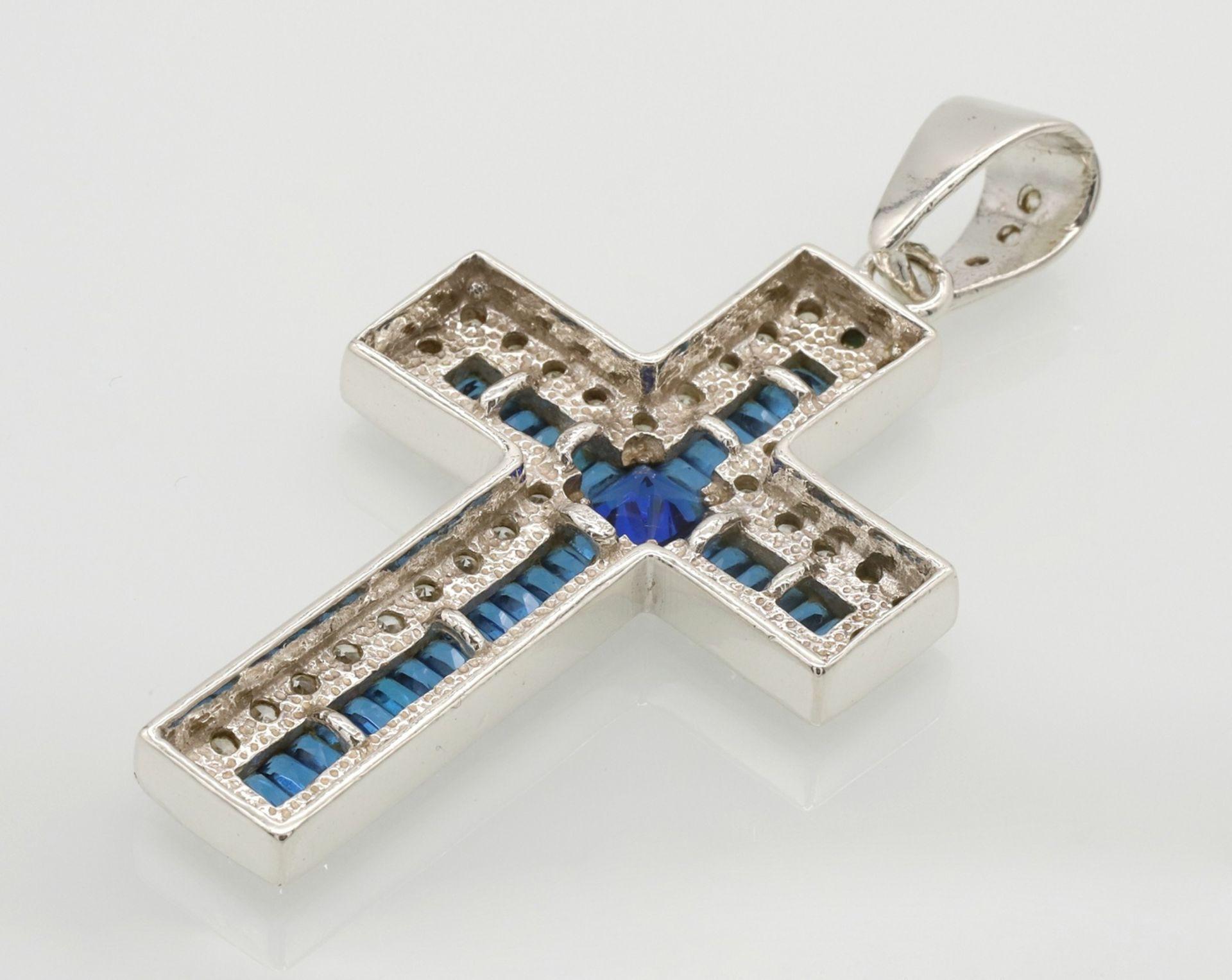 Opulenter Kreuz-Anhänger aus Silber - Bild 2 aus 3
