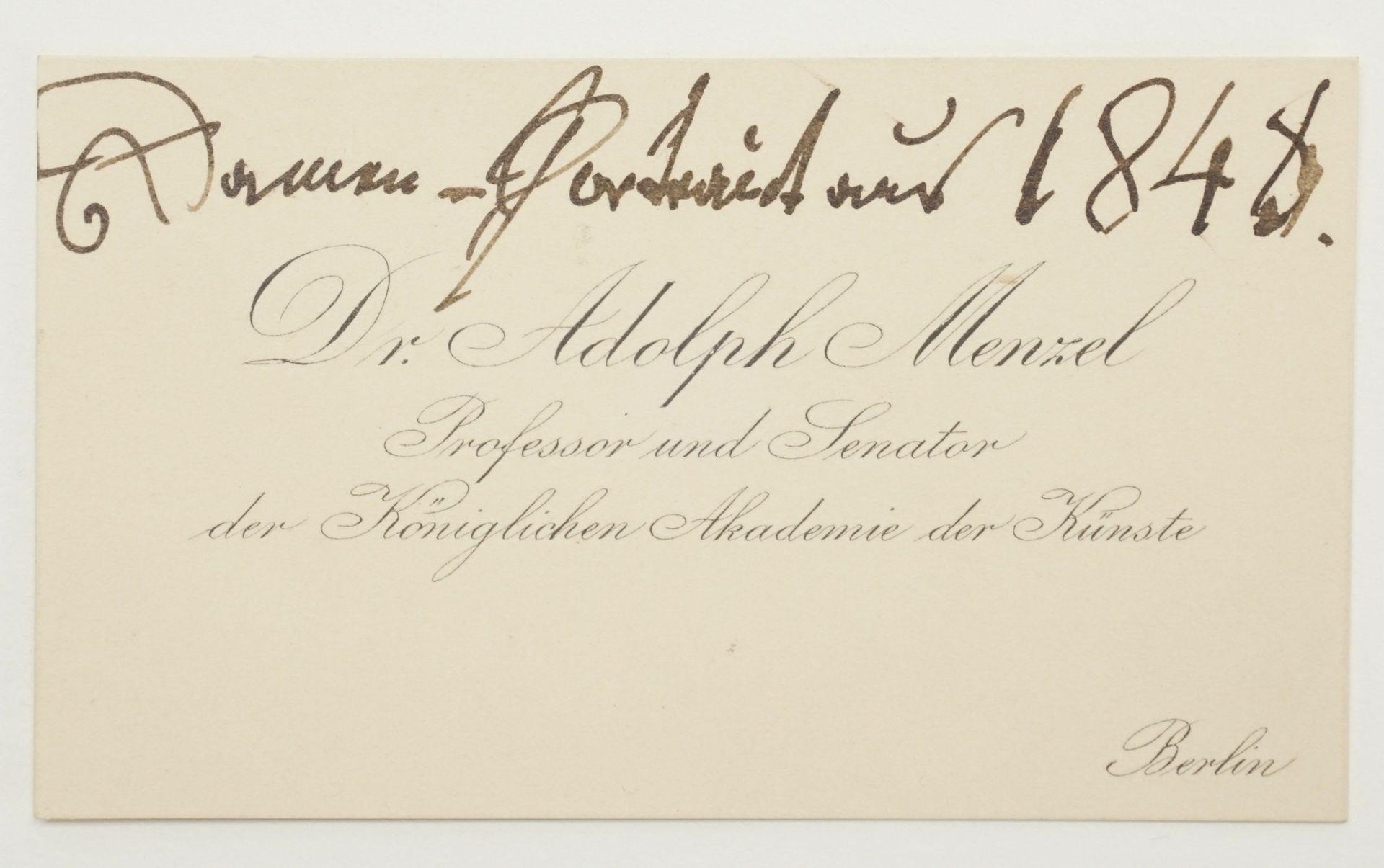 Adolf von Menzel, Autograph (handschriftlicher Brief inkl. Kuvert) - Bild 3 aus 4