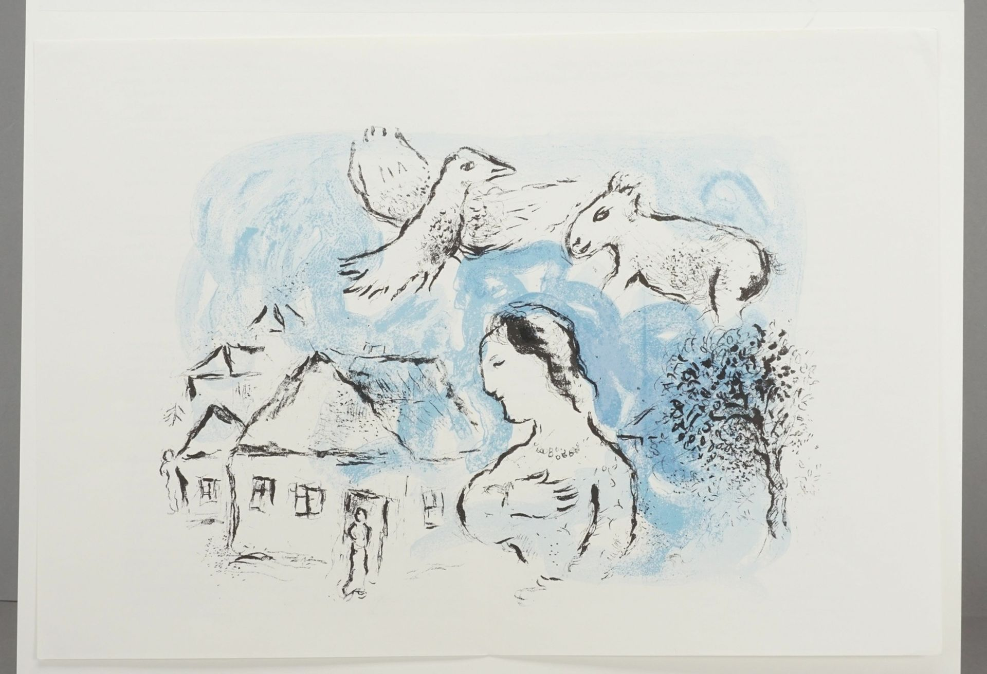 "Marc Chagall, ""Le Village"" (Das Dorf) - Bild 3 aus 4"