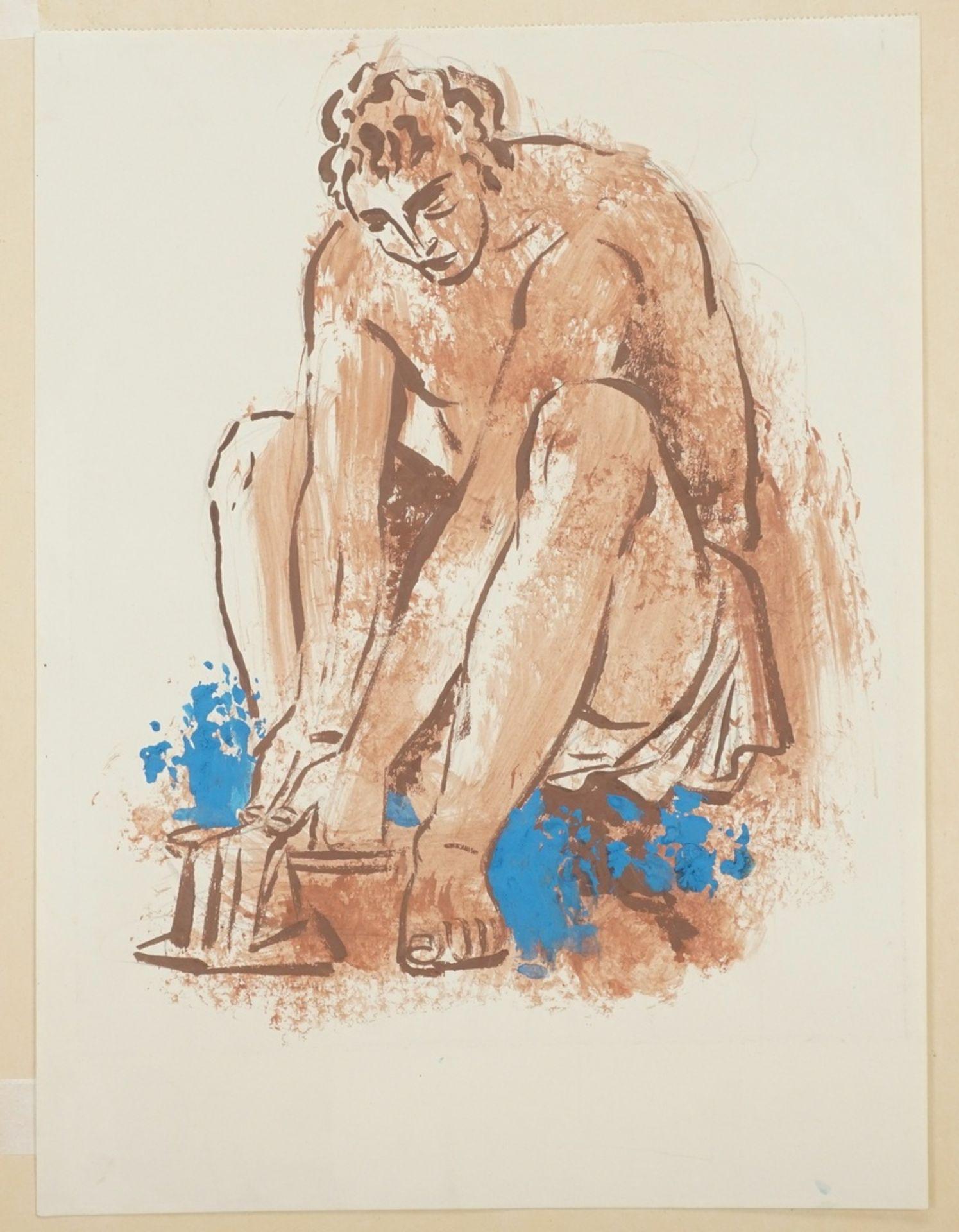 Richard Schwarzkopf, Bei der Fußwaschung - Bild 3 aus 4