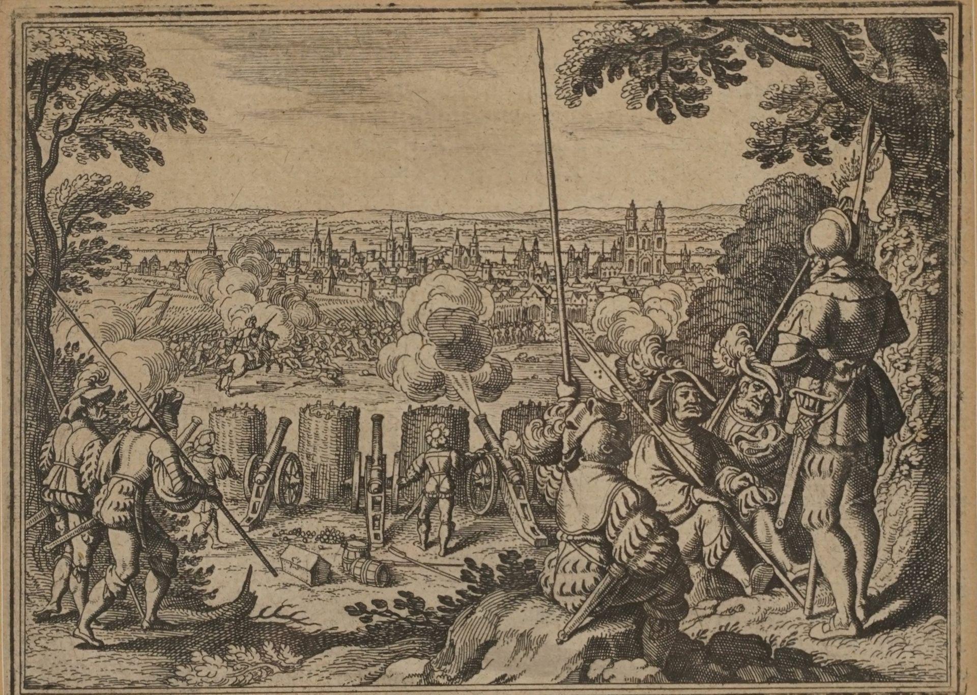 Matthäus Merian, Fünf Kupferstiche mit Schlachtenszenen - Bild 3 aus 6