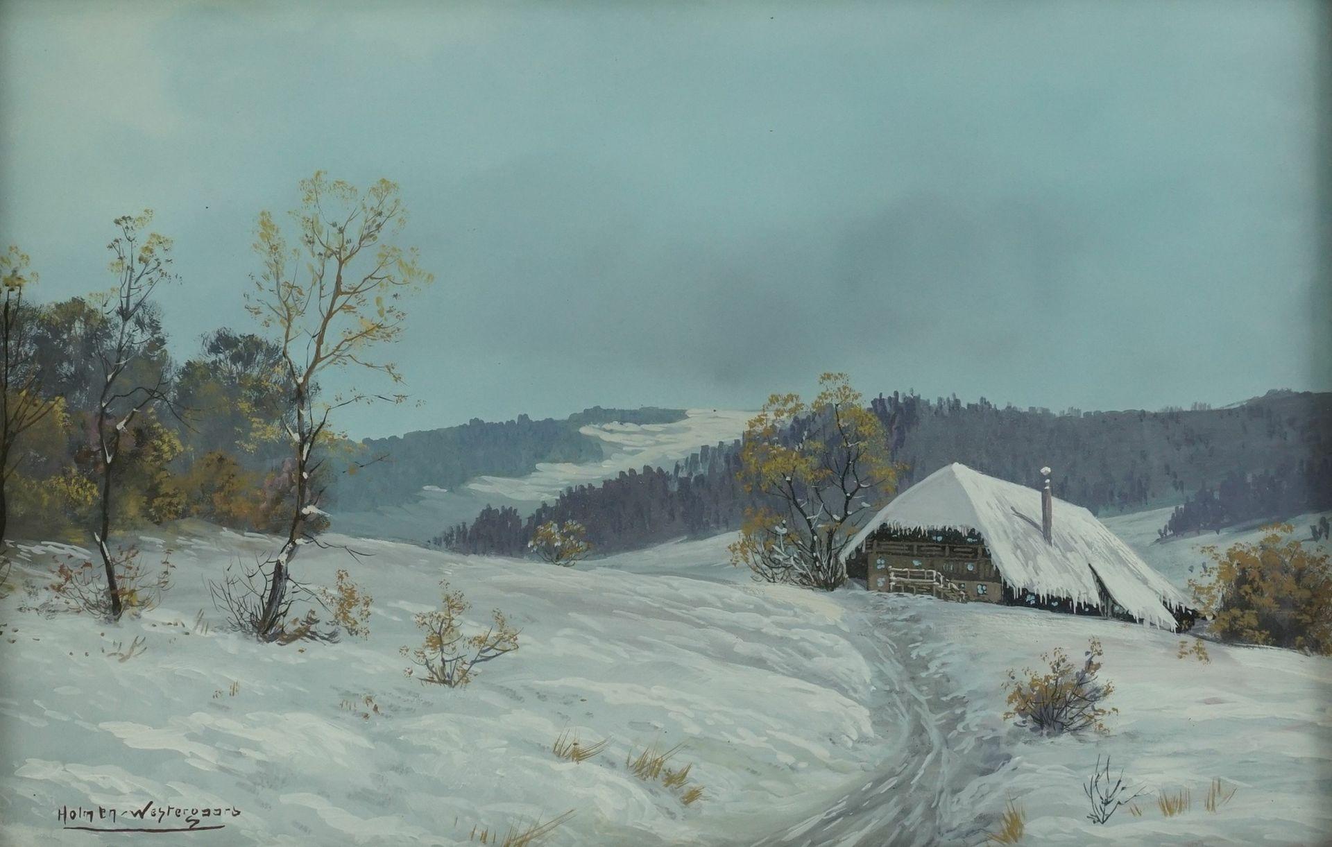 """Holmen-Westergaard, """"Winterlandschaft mit Gehöft"""" - Bild 3 aus 4"""