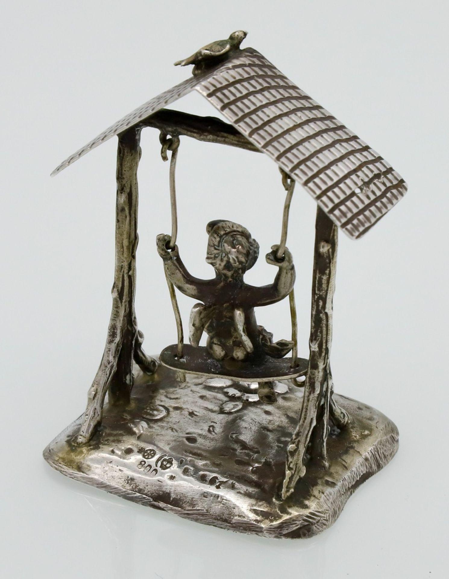 Martin Mayer Miniatur eines schaukelnden Puttos, um 1900 - Bild 2 aus 3