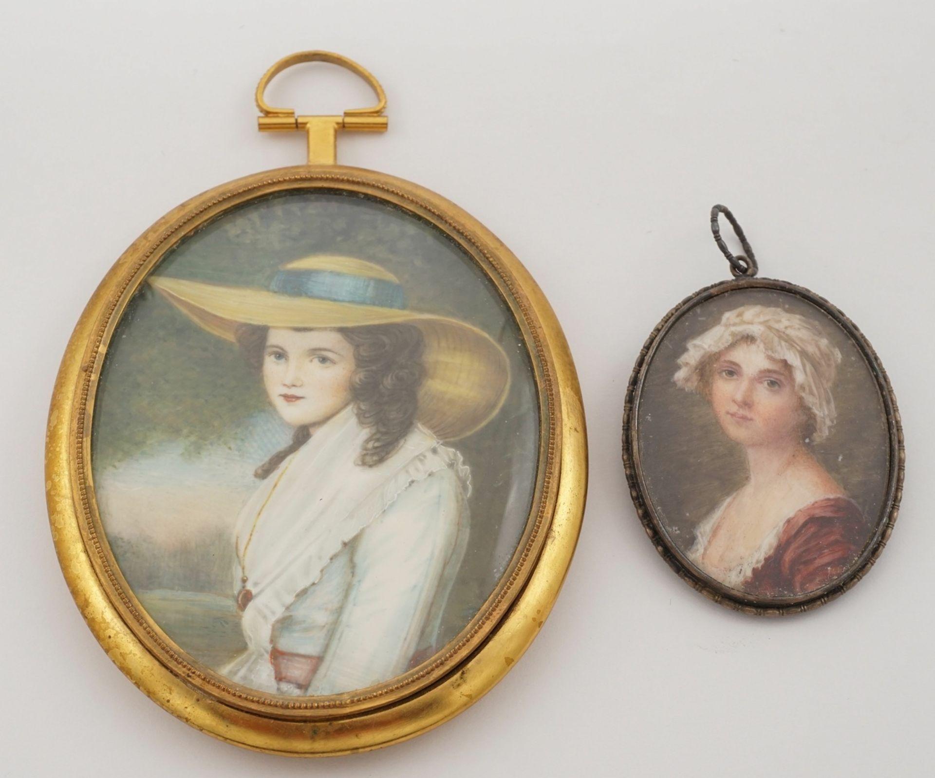 Miniatur-Portrait und -Brosche