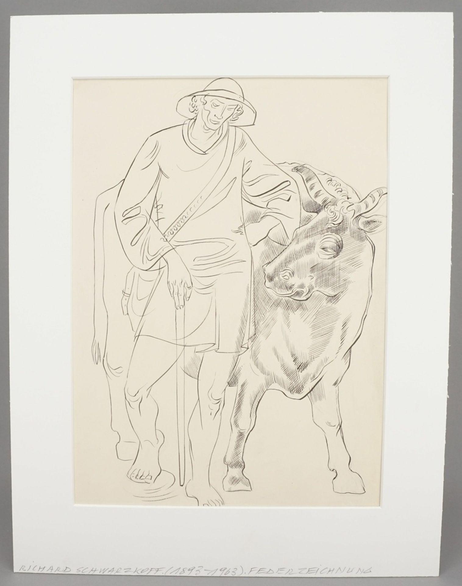Richard Schwarzkopf, Kuh-Hirte - Bild 2 aus 4
