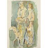 Richard Schwarzkopf, Zwei Hirten mit Schaf