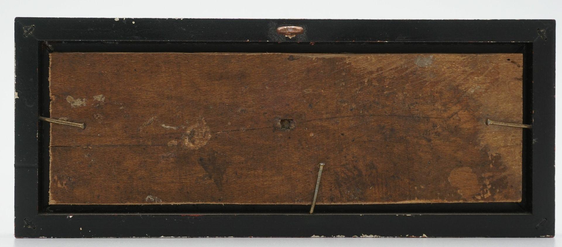 Fein verzierte Blende eines Kabinettschranks - Bild 2 aus 2