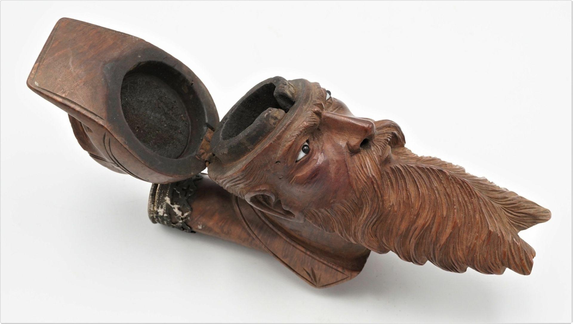 Pfeifenkopf in Form eines bärtigen Mannes mit Mütze, 19./20. Jh. - Bild 4 aus 4