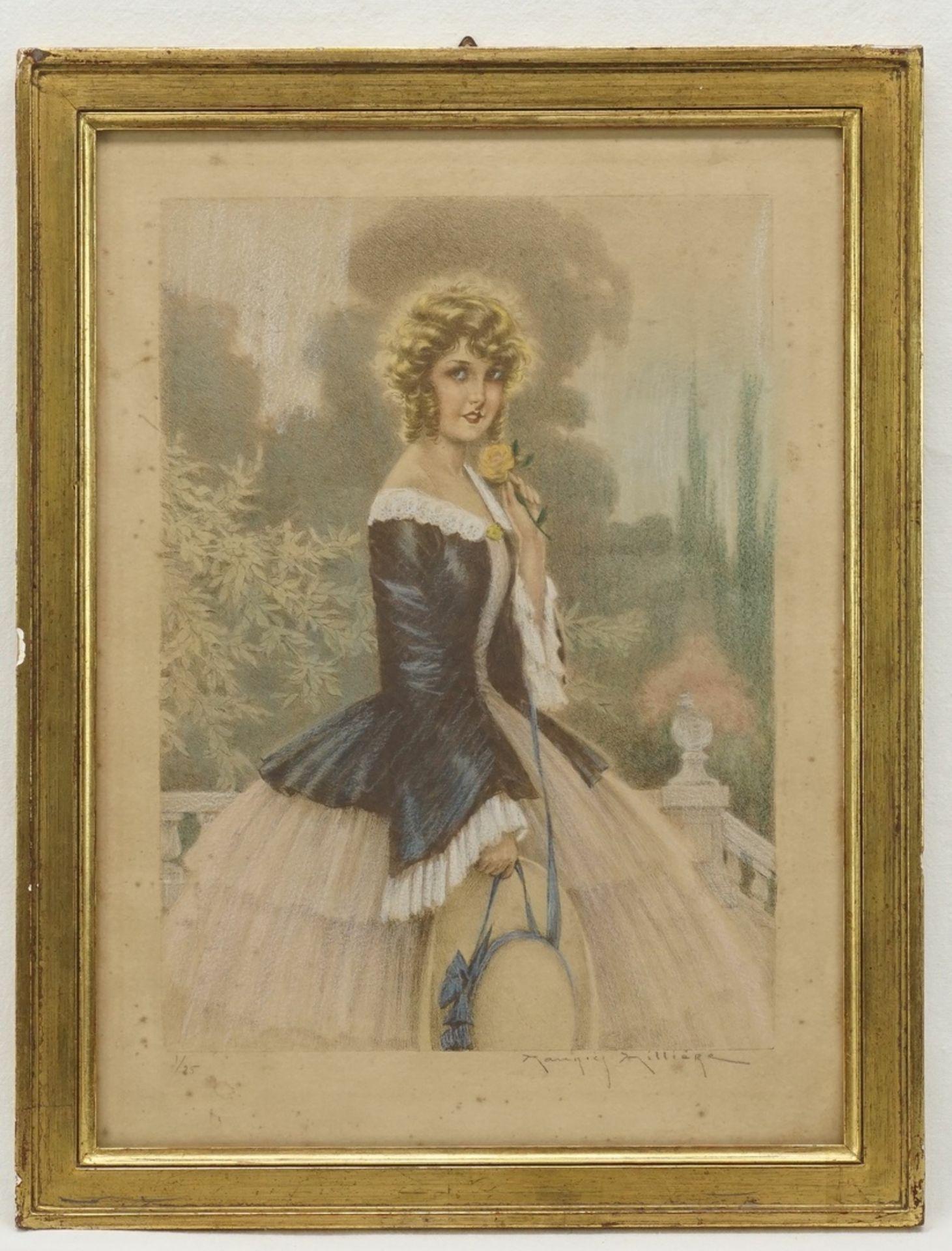 Maurice Millière, Junge Dame mit Strohhut - Bild 2 aus 4