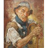 R. Moser, Portrait eines Hirten