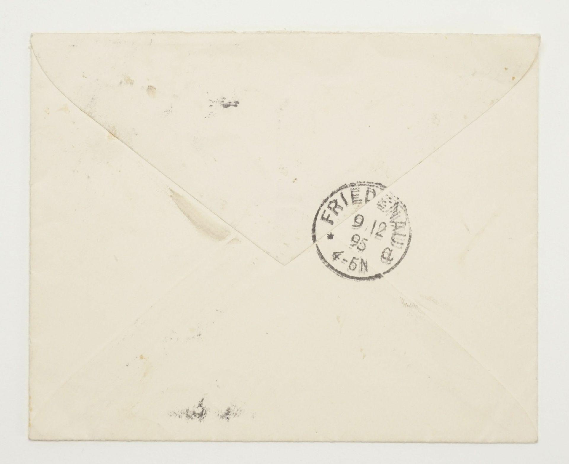 Adolf von Menzel, Autograph (handschriftlicher Brief inkl. Kuvert) - Bild 2 aus 4