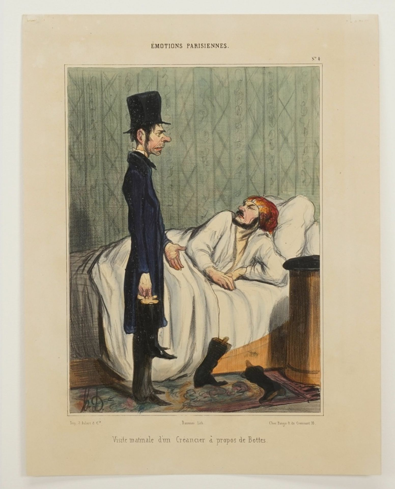 """Honoré Daumier, """"Visite matinale d'un Créancier à propos de Bottes"""" (Morgendlicher Besuch ... - Bild 3 aus 3"""