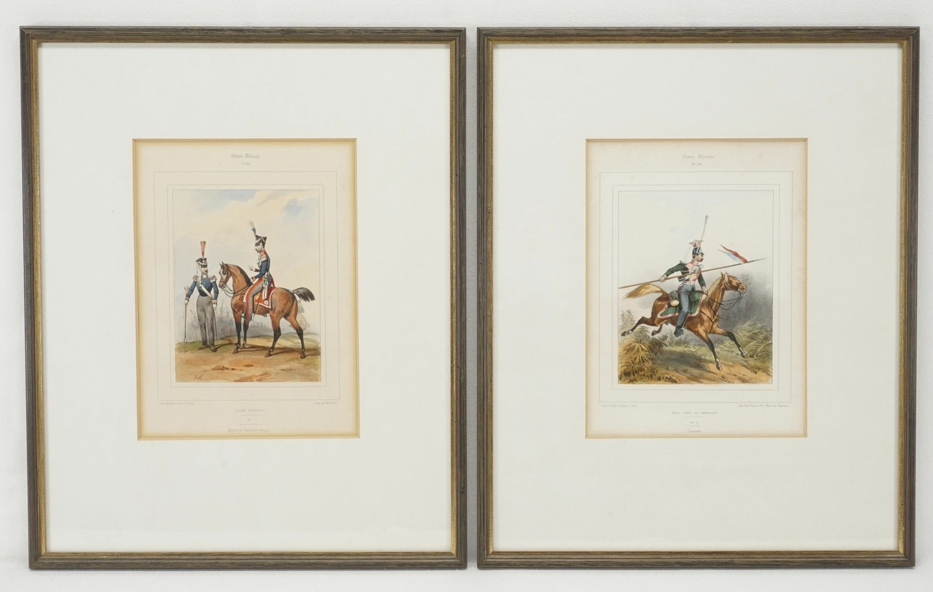 """Zwei Blatt aus der """"Galerie Militaire"""""""