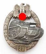 Panzerkampfabzeichen mit Einsatzzahl 25