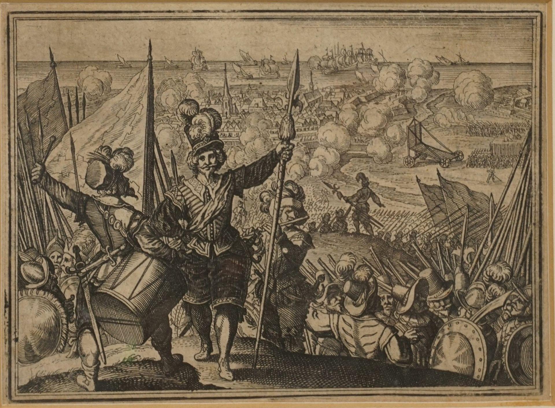 Matthäus Merian, Fünf Kupferstiche mit Schlachtenszenen - Bild 4 aus 6