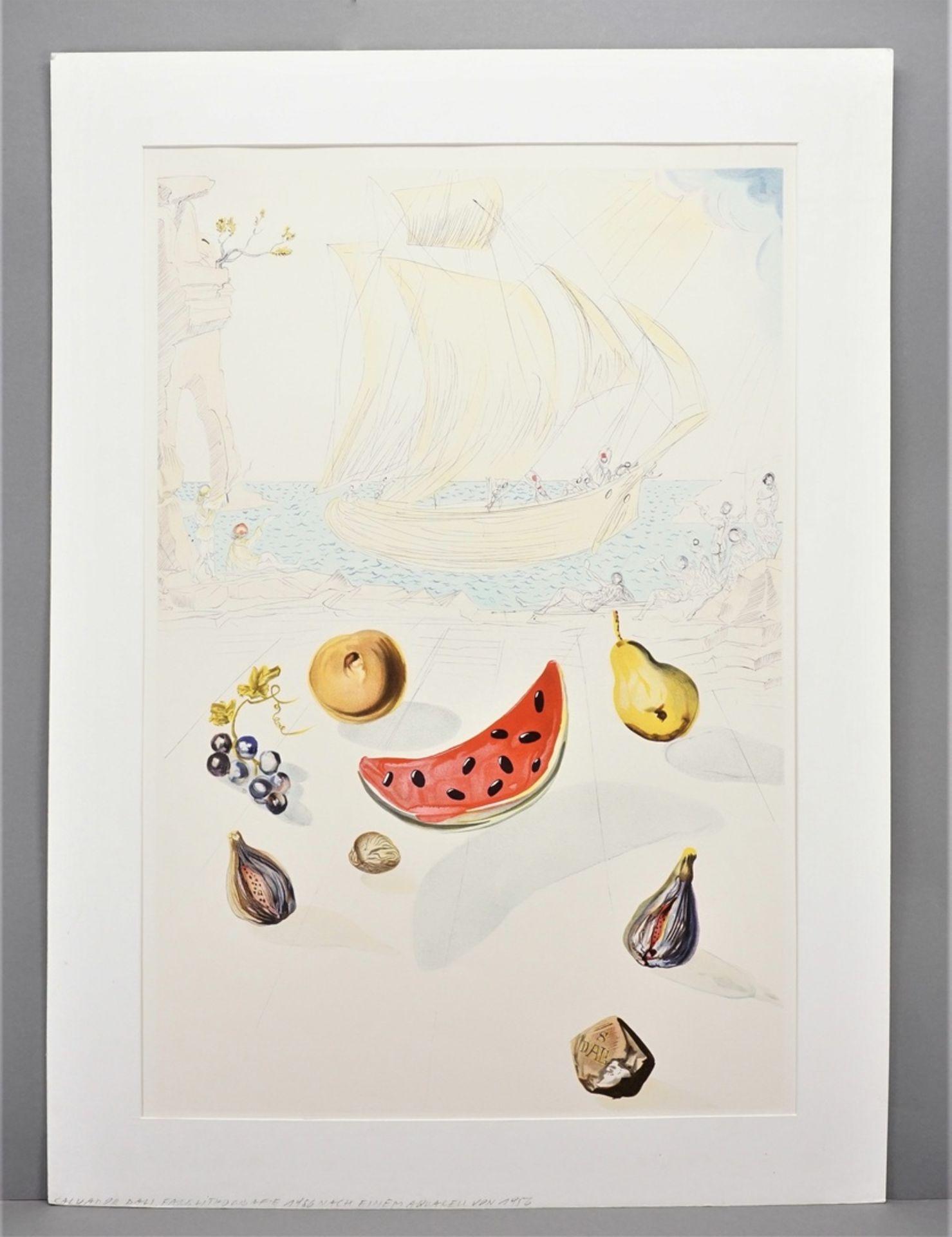 """Salvador Dalí, """"Ship and fruits"""" (Schiff und Früchte) - Bild 2 aus 3"""