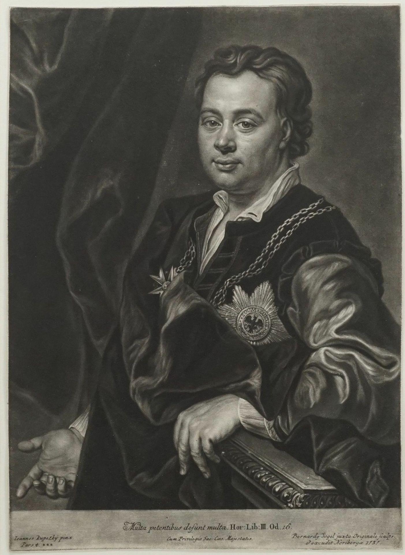 """Bernhard Vogel, """"Multa oetentibus desunt multa"""" (Bildnis Gustav Adolf von Gotter)"""