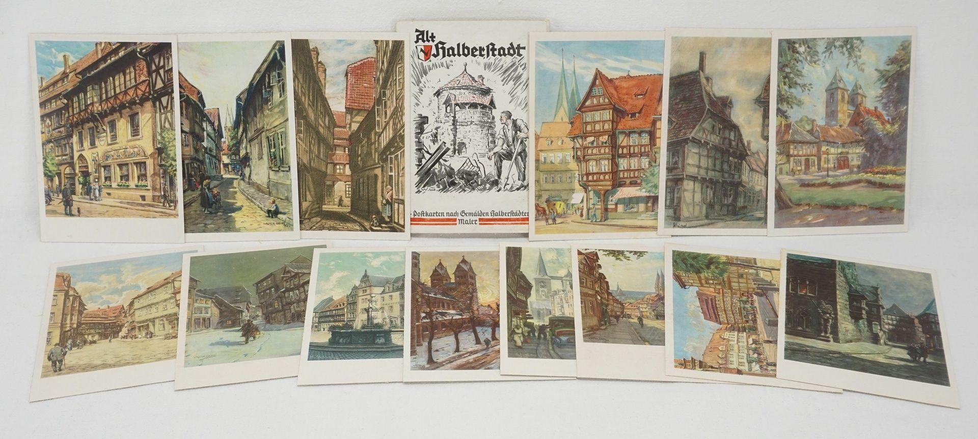 Kunstdruckmappe und Postkarten, Halberstadt am Harz - Bild 7 aus 7
