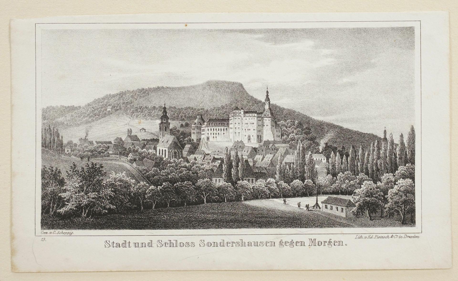 Stadt und Schloss Sondershausen gegen Morgen - Bild 3 aus 3
