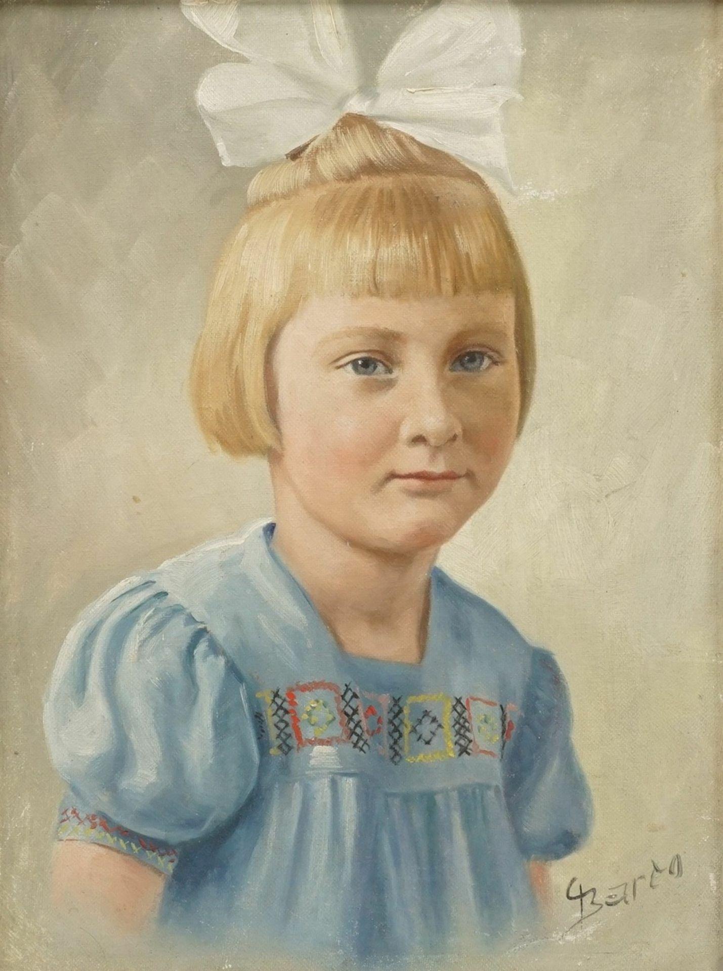 Barto, Kinderbildnis eines Mädchens mit Schleife im Haar - Bild 2 aus 4