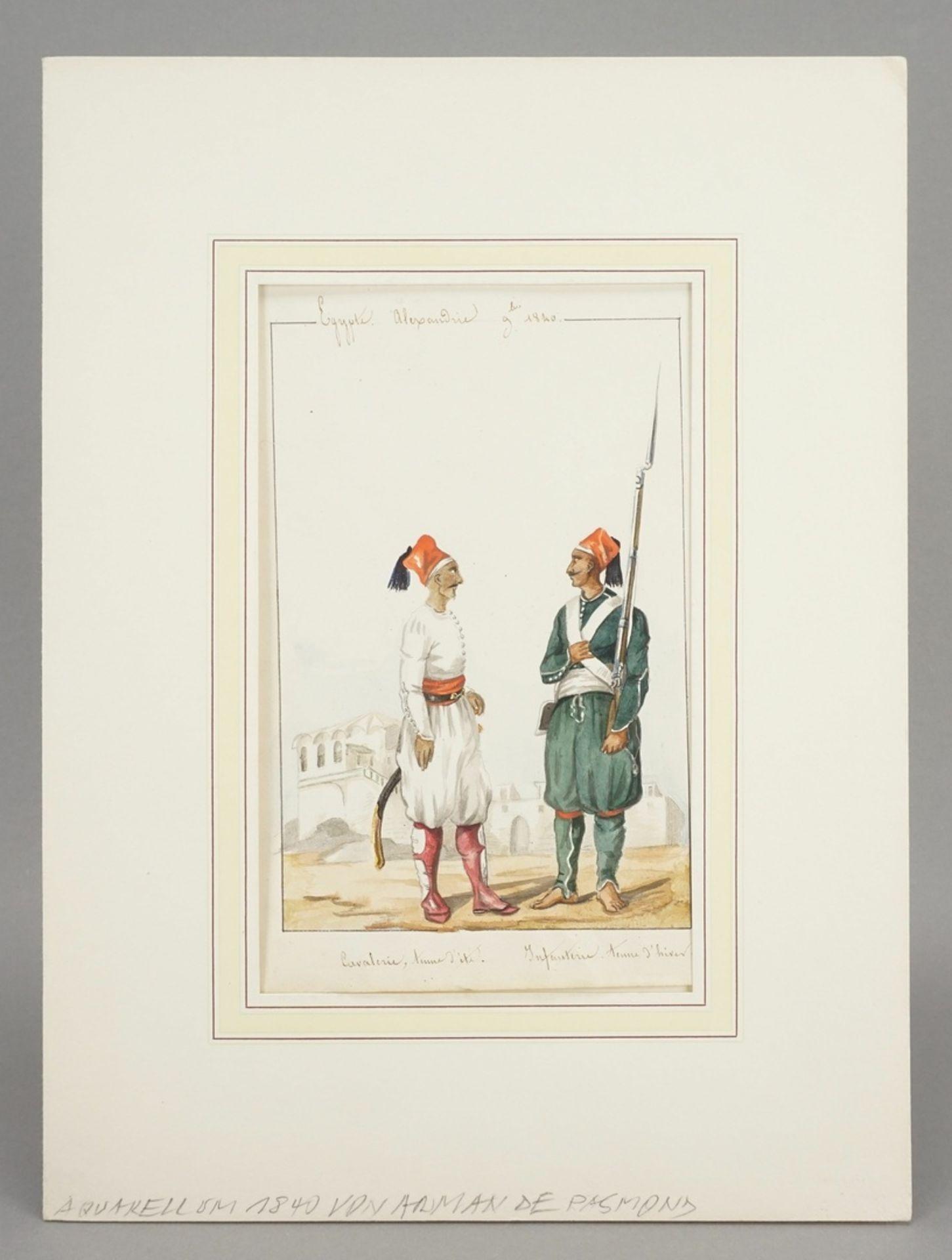 Arman de Pasmond, Ägyptische Soldaten - Bild 2 aus 2
