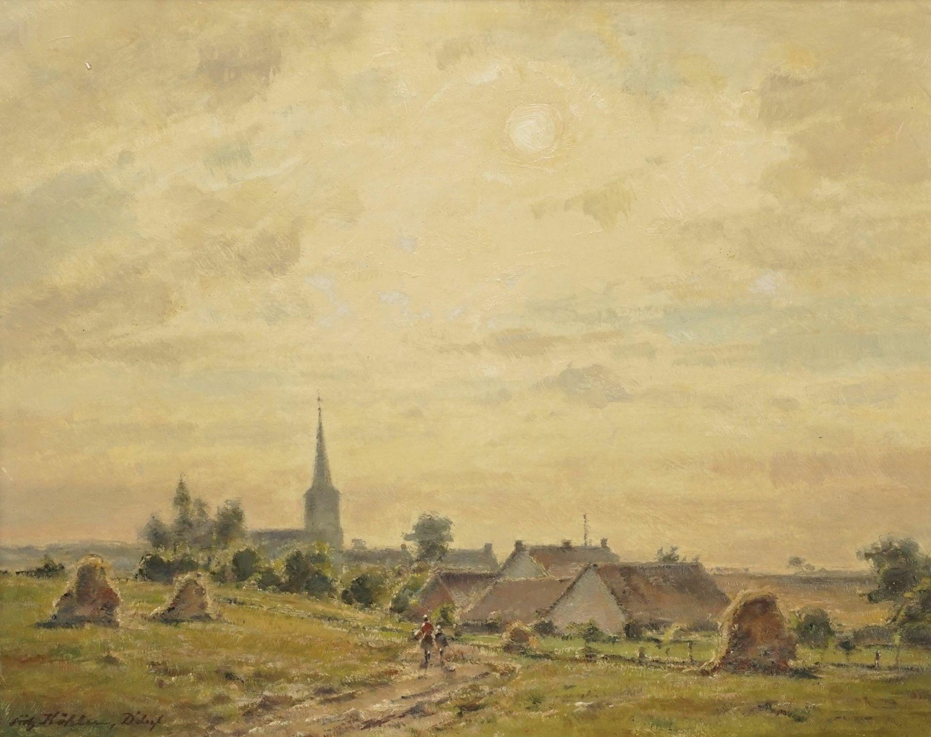 "Fritz Köhler, ""Dorf in der Spätnachmittagssonne"""