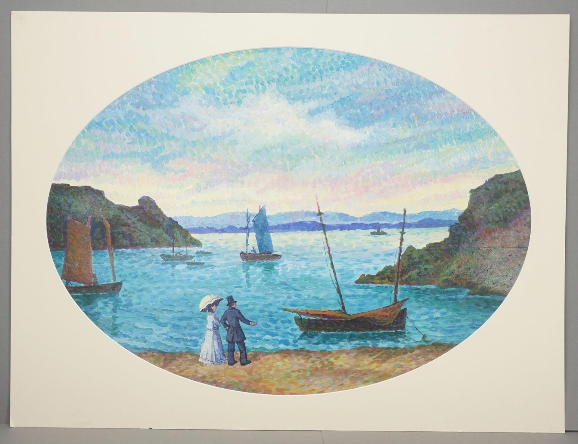 """Maxime Maufra, """"Île de Bréhat (variierte Kopie nach Maufra)"""" - Bild 2 aus 3"""