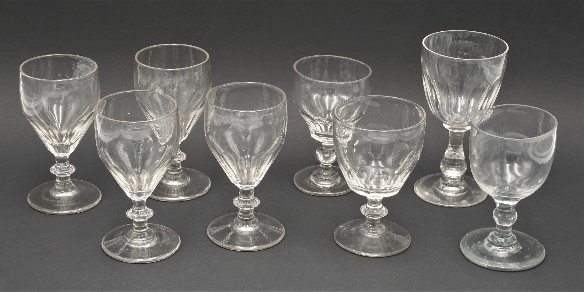 Konvolut 14 Wein- und Schnapsgläser, um 1900 - Bild 4 aus 4