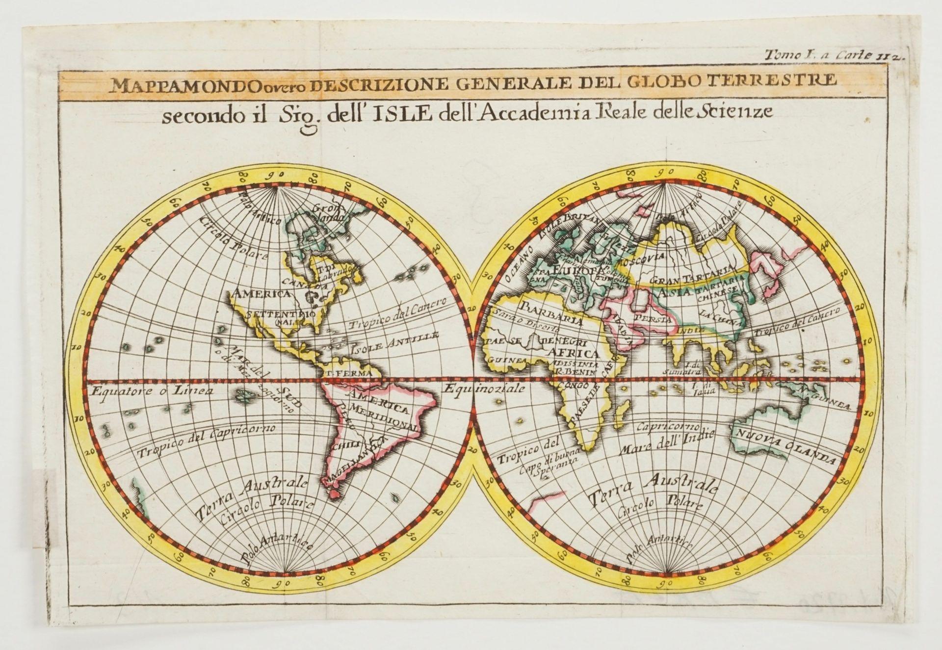 Zwei Weltkarten mit Doppel-Hemisphären - Bild 2 aus 3