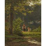Ernst Philipp von Bernuth, Zwei Jungen beim Angeln
