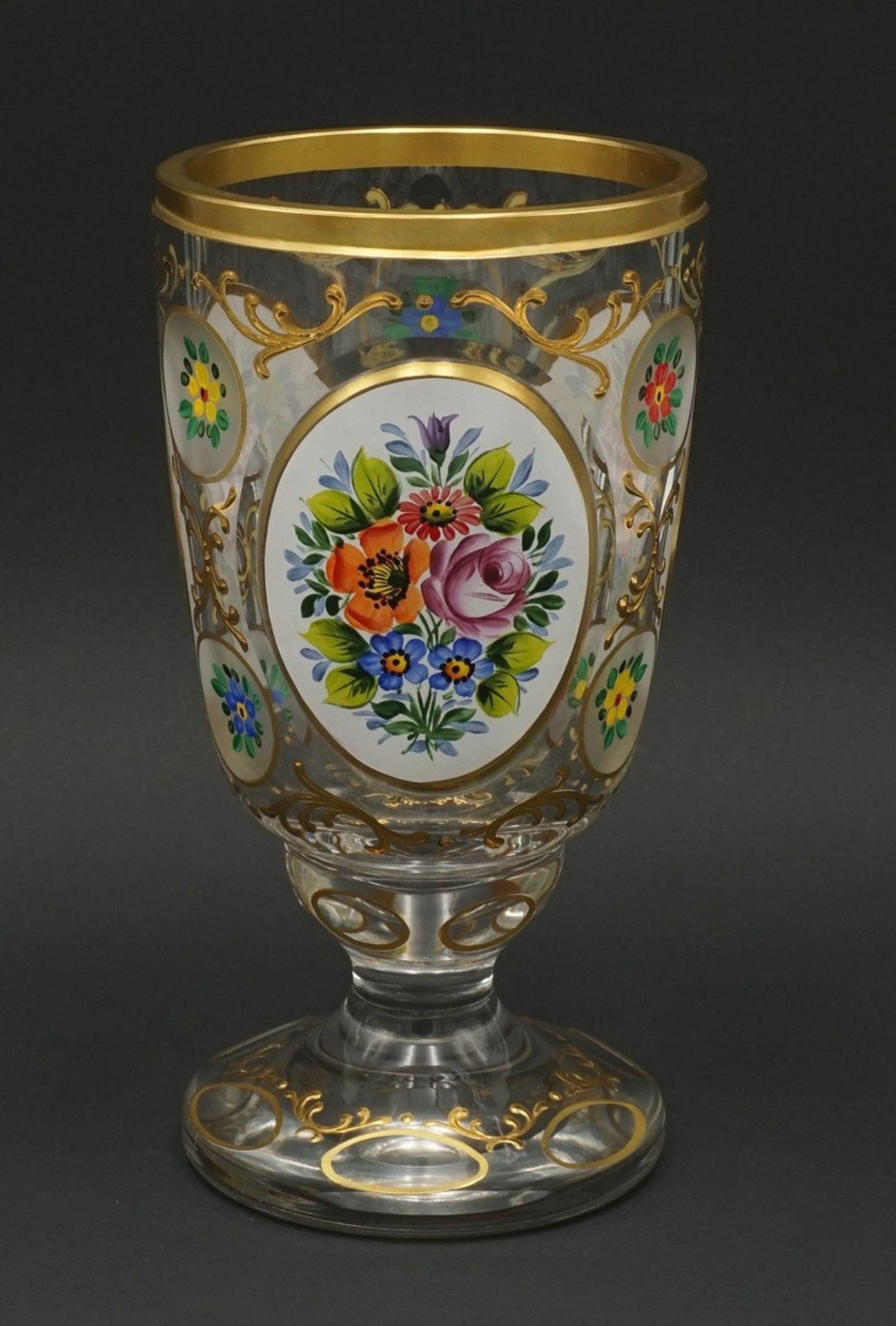 Ranftglas mit Emaillemalerei, 20. Jh.