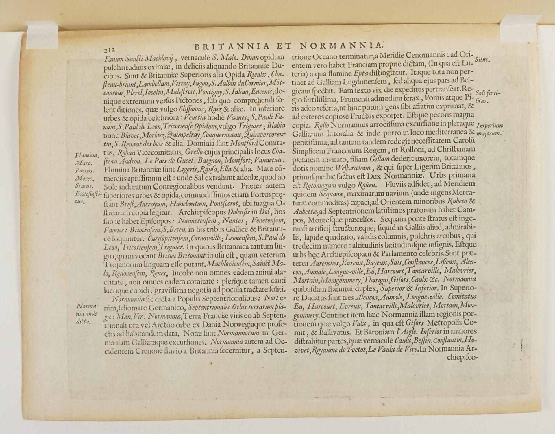 """Gerhard Mercator, """"Bretania et Normandia cum confinijs"""" (Landkarte der Bretagne und Normandie) - Bild 4 aus 4"""