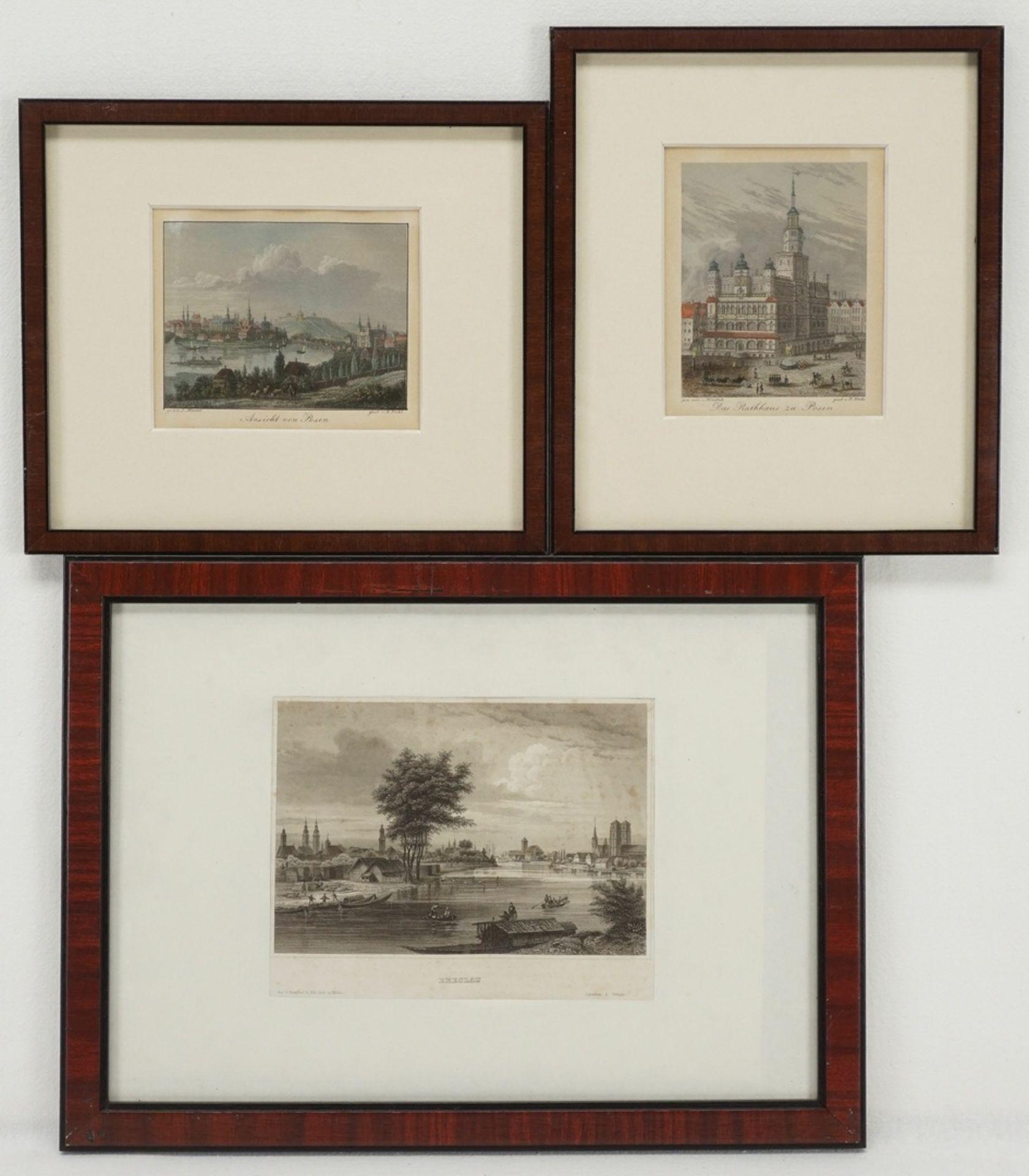 Posen und Breslau - drei Ansichten