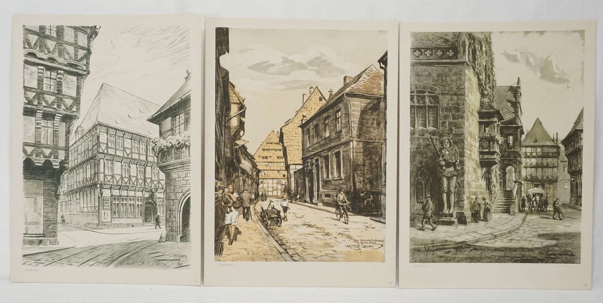 Kunstdruckmappe und Postkarten, Halberstadt am Harz - Bild 6 aus 7