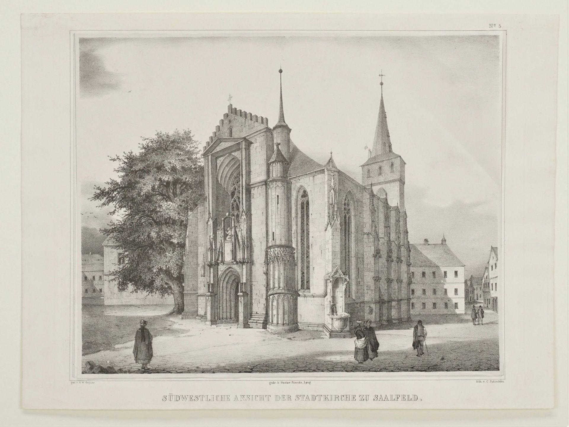 Südwestliche Ansicht der Stadtkirche zu Saalfeld - Bild 3 aus 3