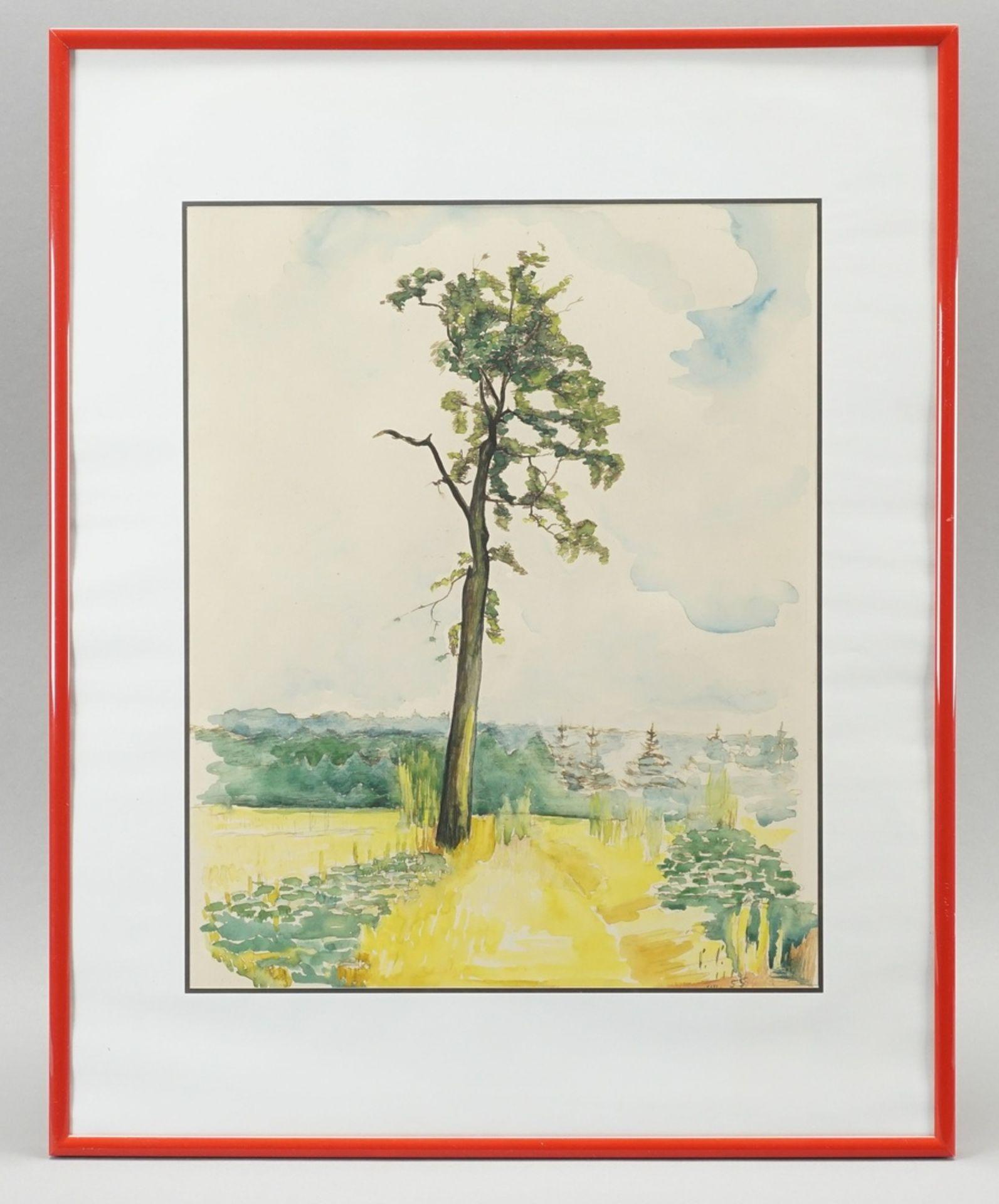 """Reinhold Rossig, """"Baum am Feldrain"""" - Bild 2 aus 2"""