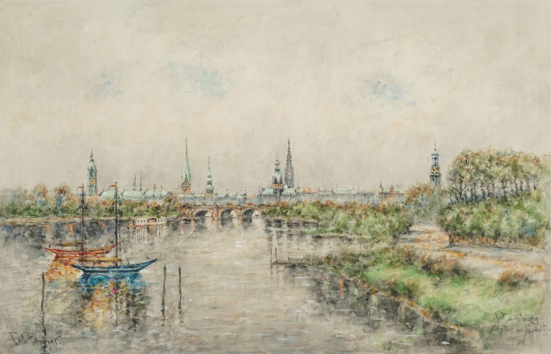 """Ferdinand Höpner, """"Hamburg. Alster und Stadt"""""""
