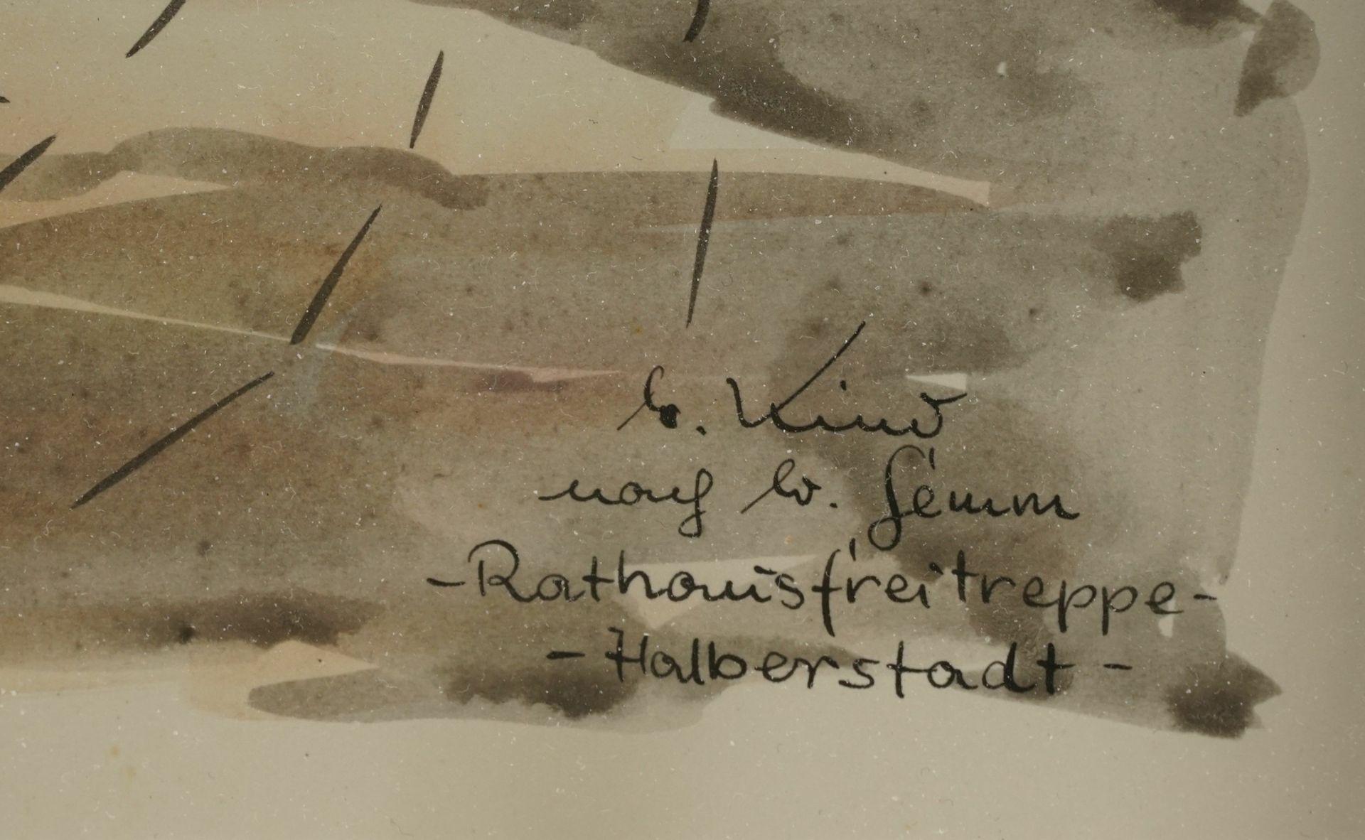 """M. oder G. Kind, """"Rathausfreitreppe - Halberstadt"""" (nach W. Gemm) - Bild 4 aus 4"""