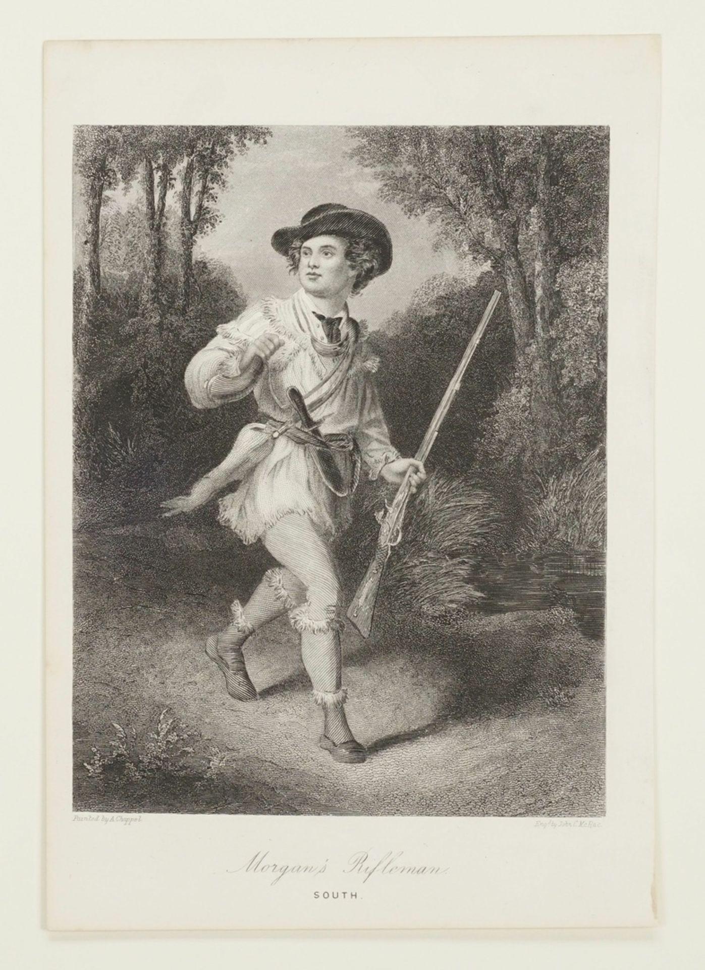 John C. McRae, Drei Darstellungen nordamerikanischer Soldaten - Bild 3 aus 4