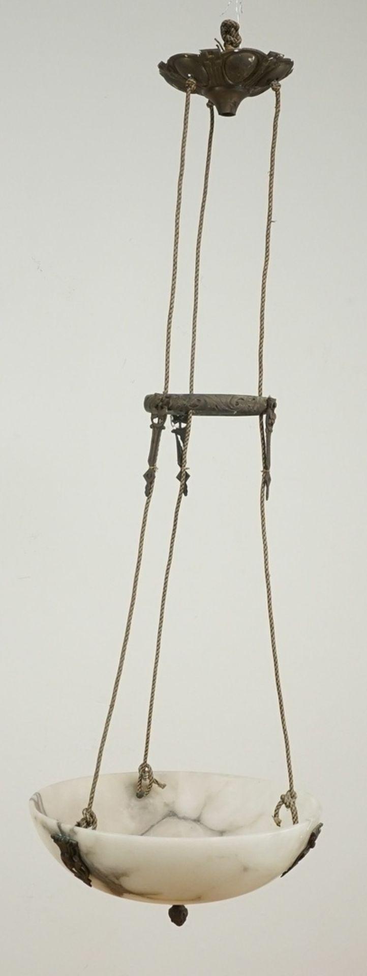 Marmor Deckenlampe, um 1900