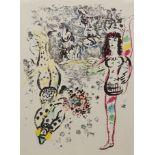 """Marc Chagall, """"Le jeu des acrobats"""" (Das Spiel der Akrobaten)"""