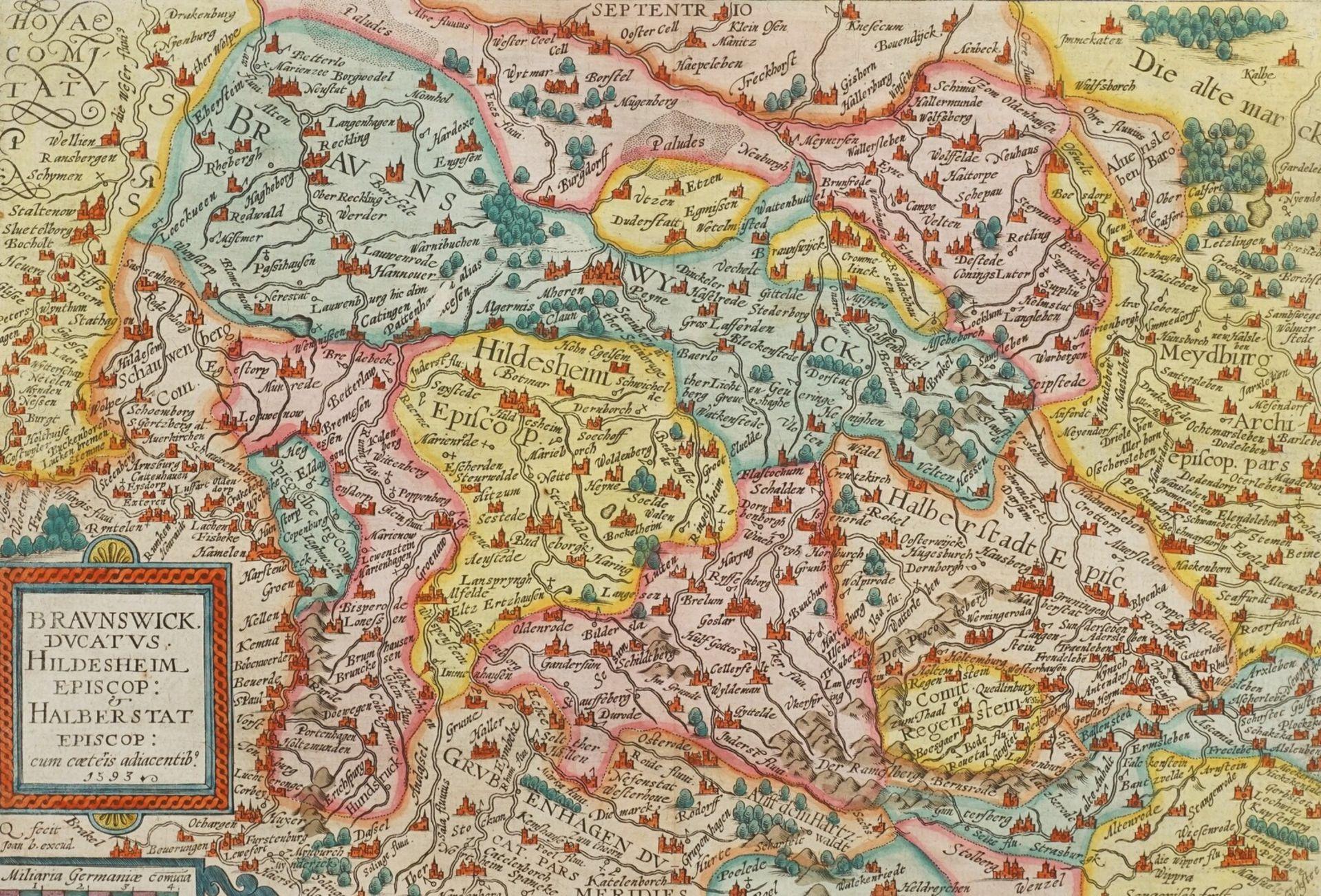 "Mat(t)hias Quad, ""Braunswick Ducatus. Hildeheim Episop: & Halberstat Episcop:"" (Landkarte des ..."