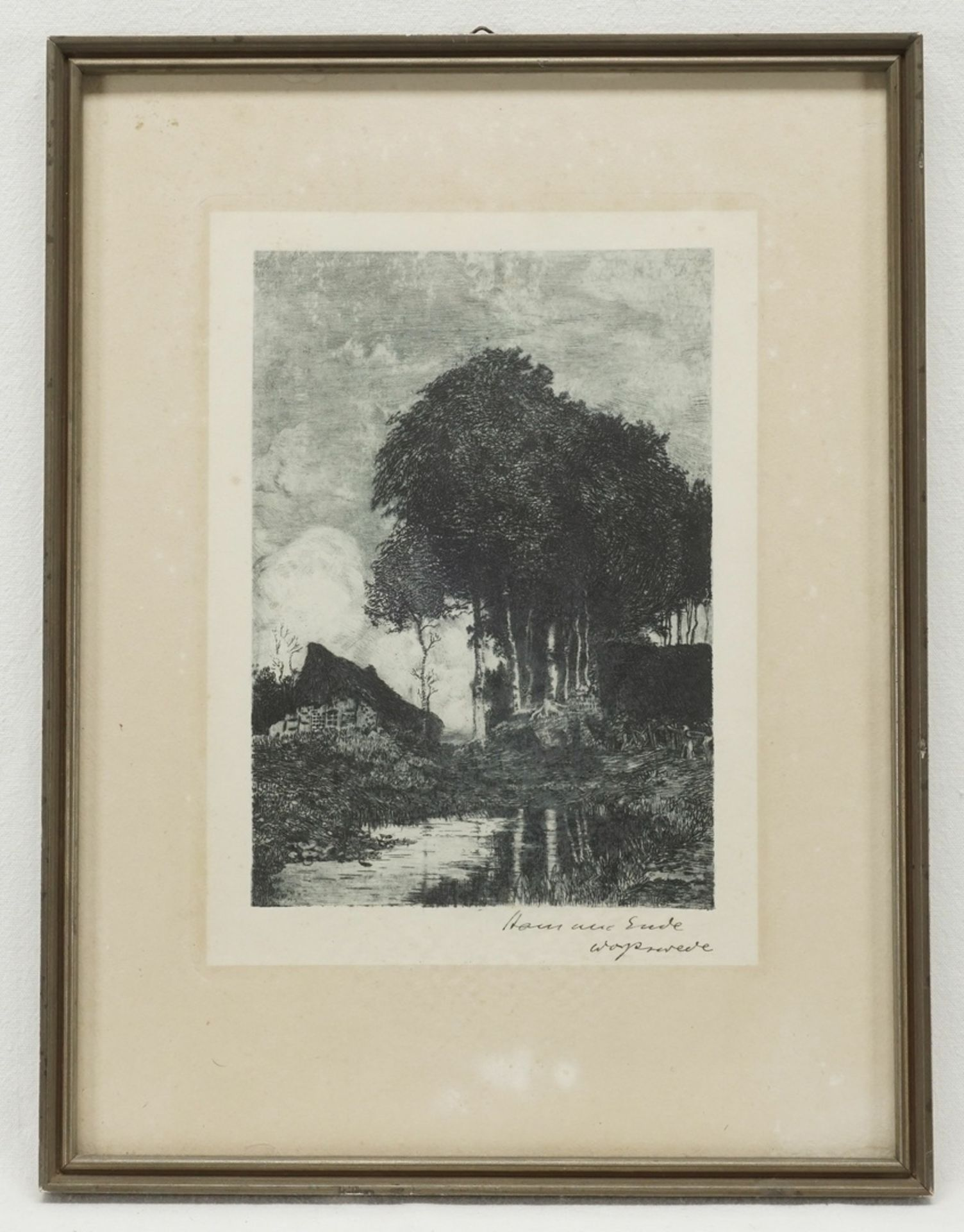 Hans am Ende, Bauernkate mit Birken im Moor - Bild 2 aus 2