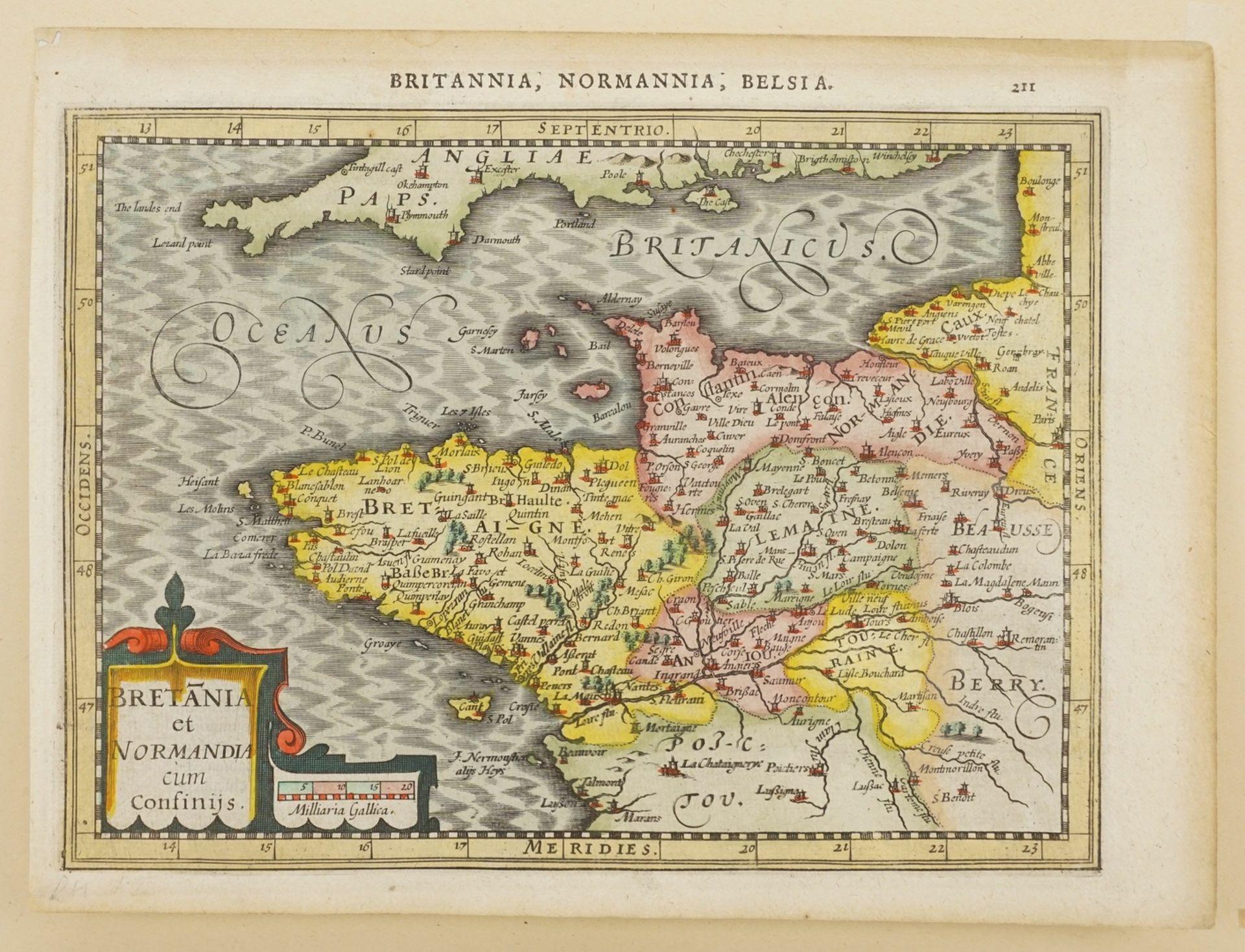 """Gerhard Mercator, """"Bretania et Normandia cum confinijs"""" (Landkarte der Bretagne und Normandie) - Bild 3 aus 4"""