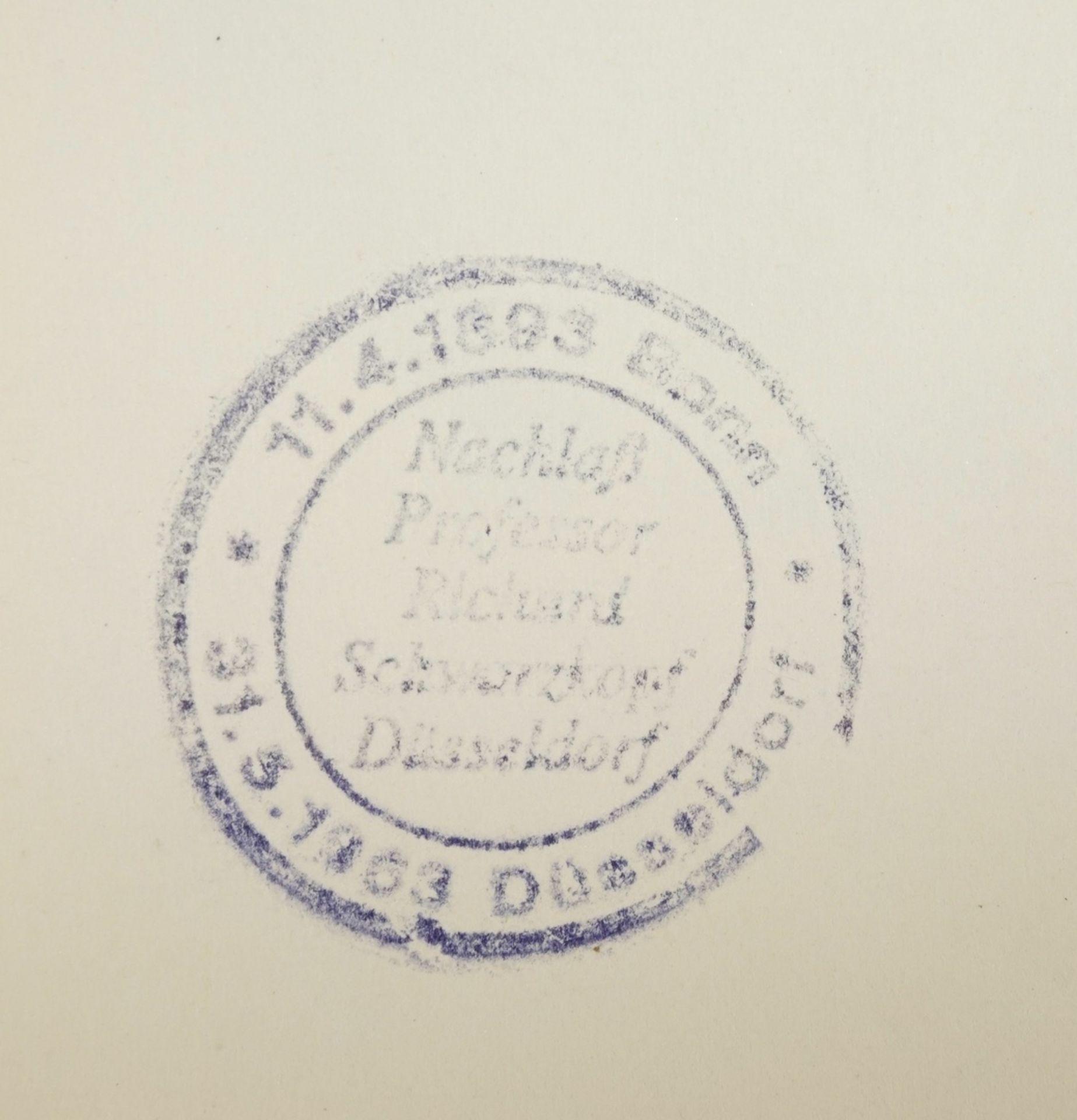 Richard Schwarzkopf, Paar mit blauem Tuch - Bild 4 aus 4