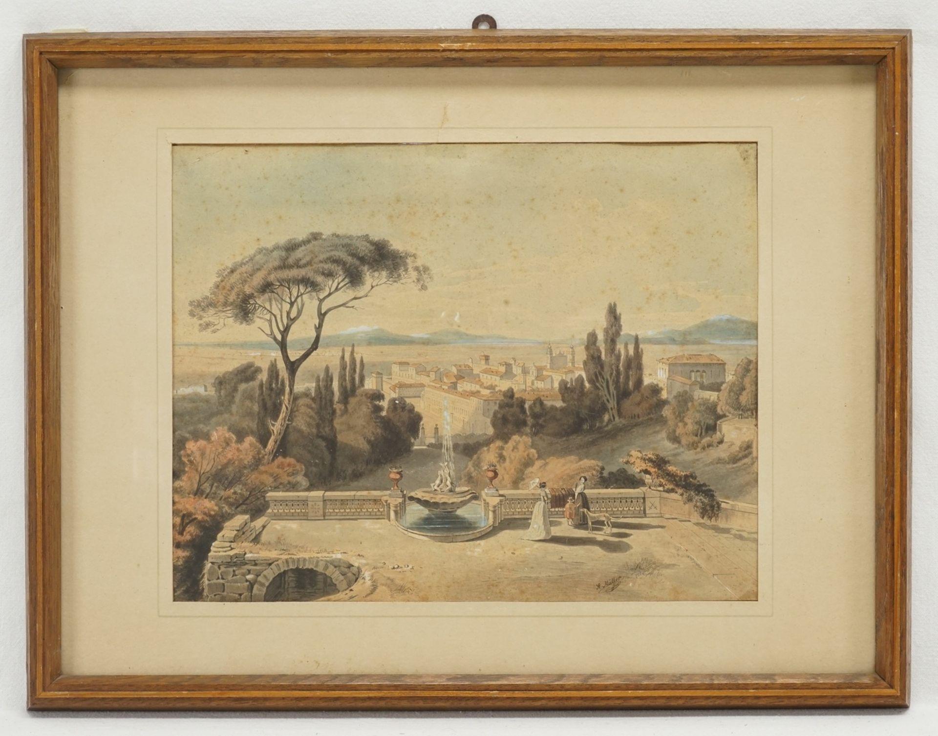 A. Müller, Zwei Lithografien - Bild 2 aus 3