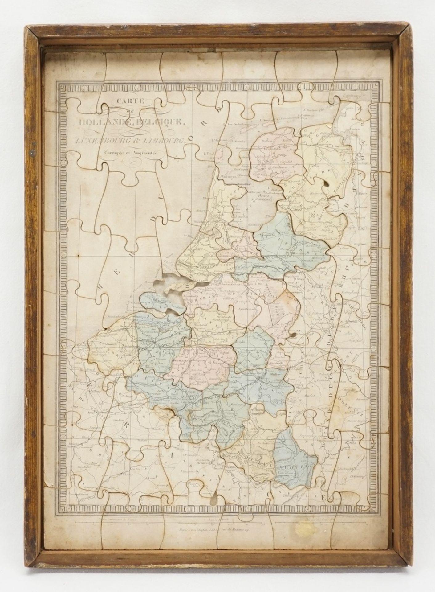 Puzzle Welt und Europa, um 1880 - Bild 3 aus 3