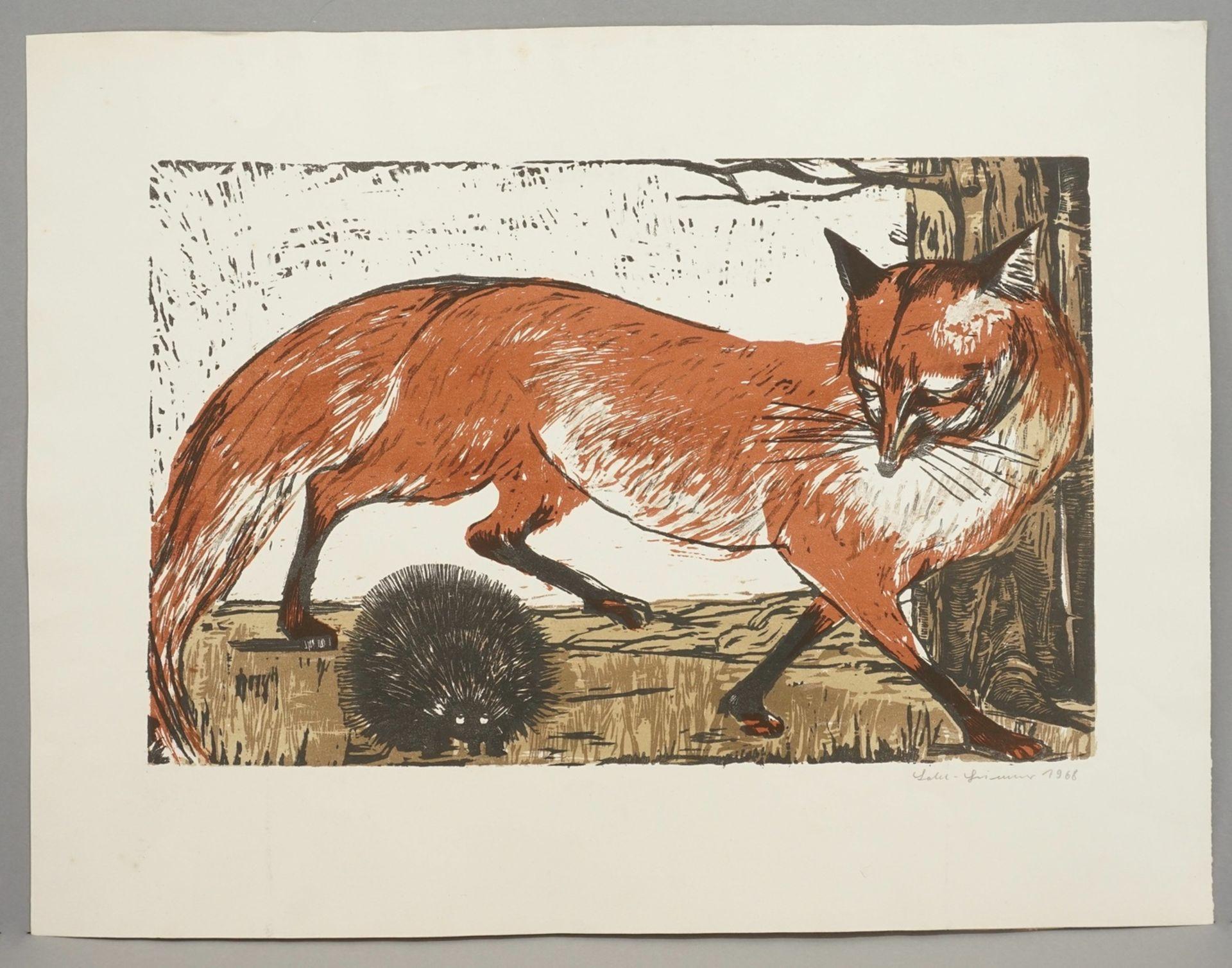 Ingeborg Lahl-Grimmer, Fuchs und Igel - Bild 2 aus 3