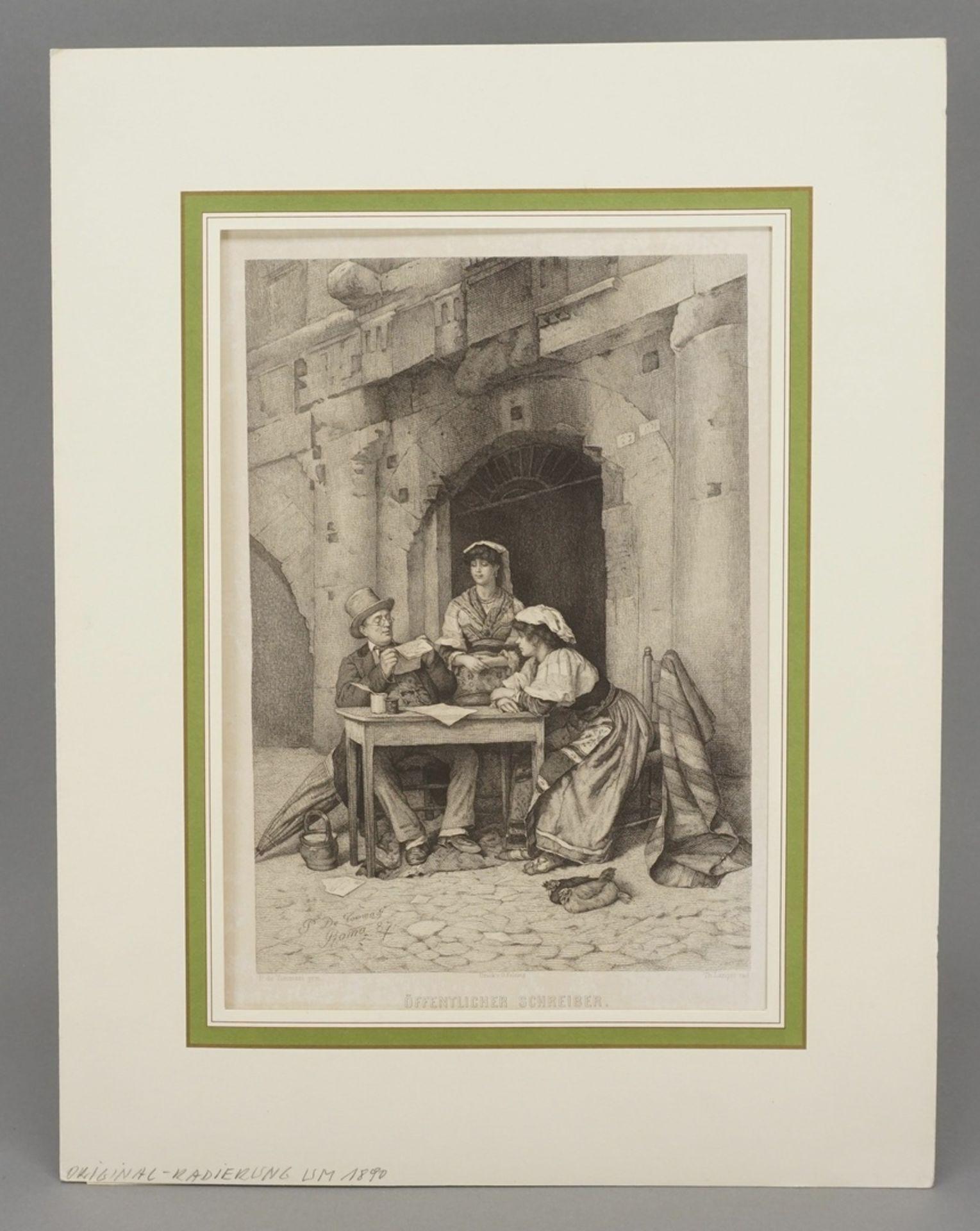 """Publio de Tommasi, """"Öffentlicher Schreiber"""" - Bild 2 aus 3"""