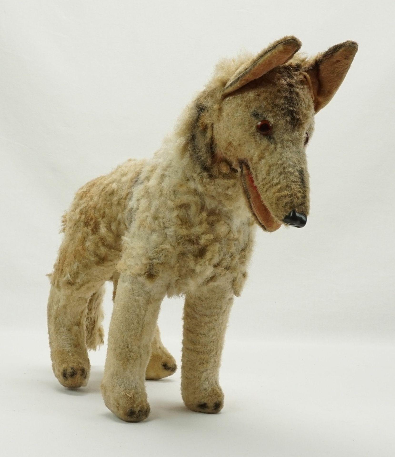 Hund mit Holzwolle Füllung, 1. Hälfte 20. Jh. - Bild 2 aus 2